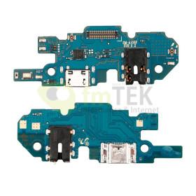 PLACA DE CARGA MICRO USB + JACK DE AUDIO 3.5MM + MICROFONE - SAMSUNG GALAXY A10 - A105F