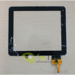 "TOUCH SCREEN DPT 300-N3708A-B00-VER1.0 - 8"" (12PIN) PRETO"